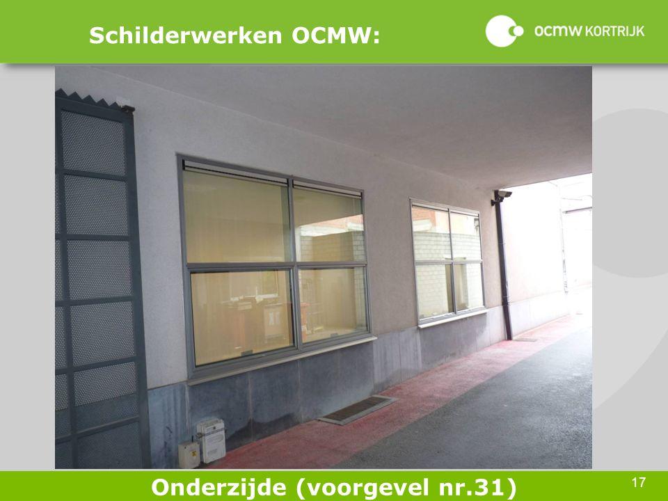 17 Schilderwerken OCMW: Onderzijde (voorgevel nr.31)