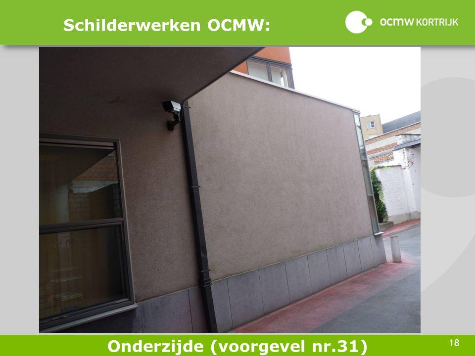 18 Schilderwerken OCMW: Onderzijde (voorgevel nr.31)