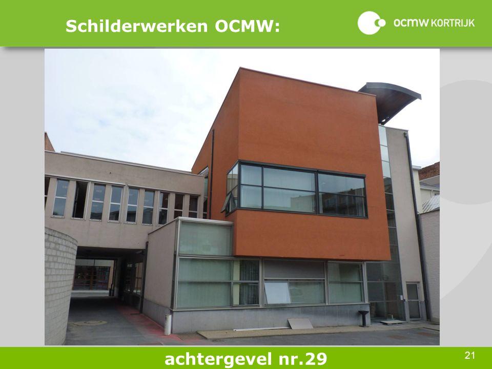 21 Schilderwerken OCMW: achtergevel nr.29