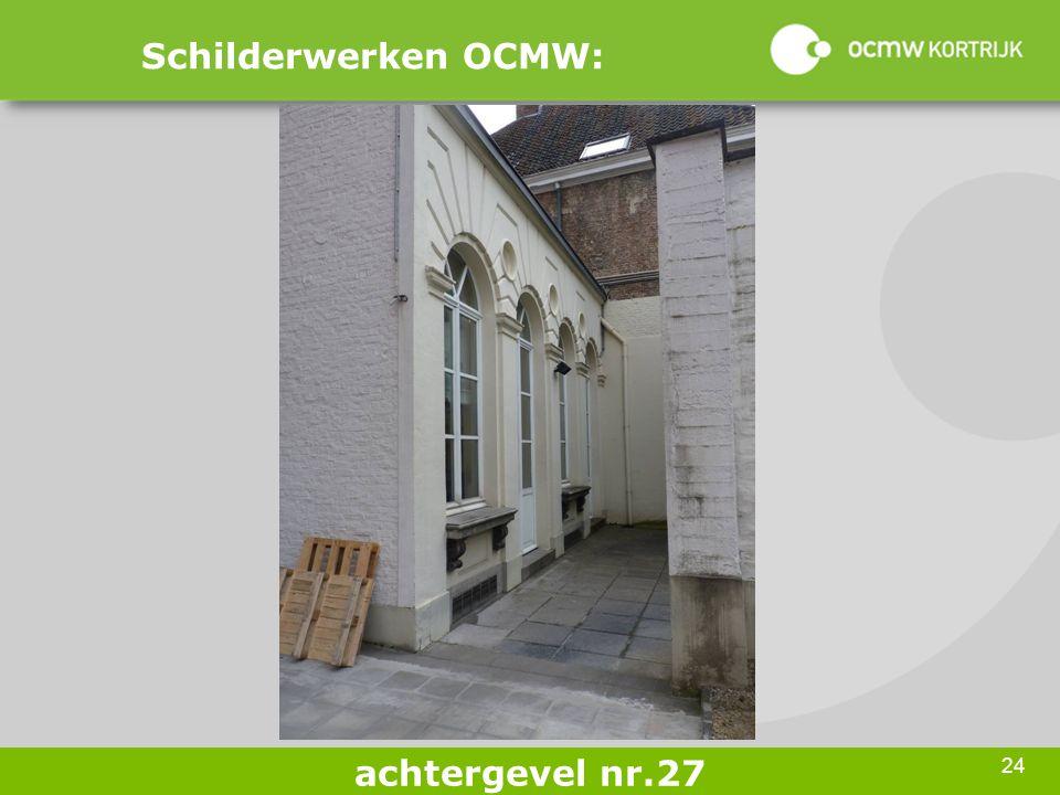 24 Schilderwerken OCMW: achtergevel nr.27
