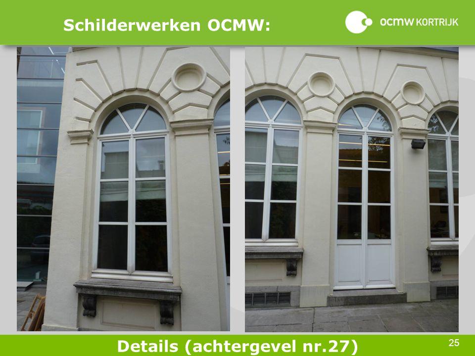 25 Schilderwerken OCMW: Details (achtergevel nr.27)