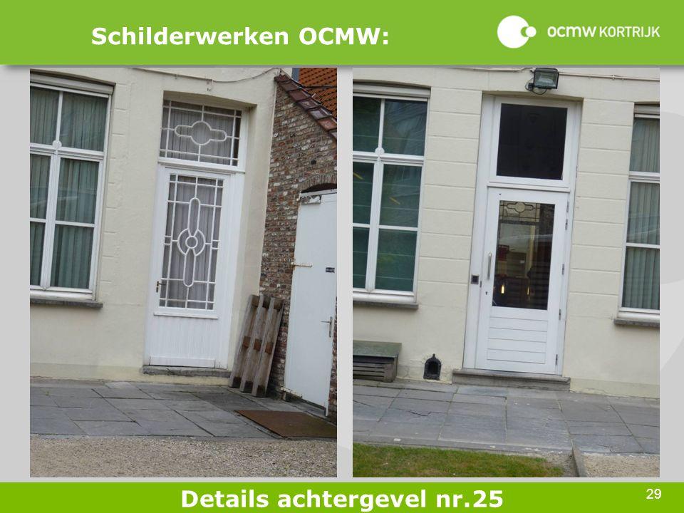 29 Schilderwerken OCMW: Details achtergevel nr.25