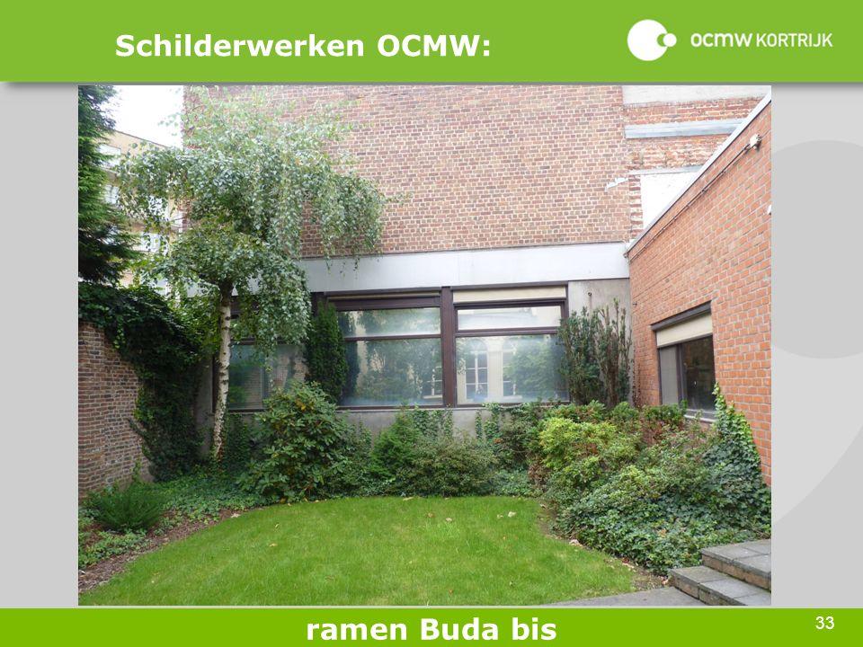 33 Schilderwerken OCMW: ramen Buda bis