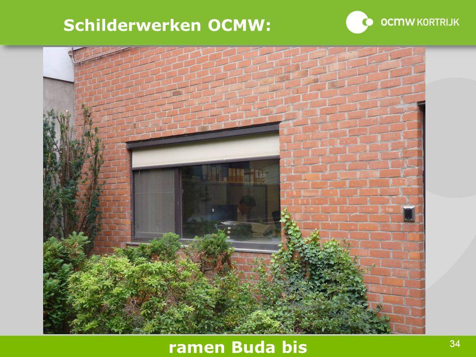 34 Schilderwerken OCMW: ramen Buda bis