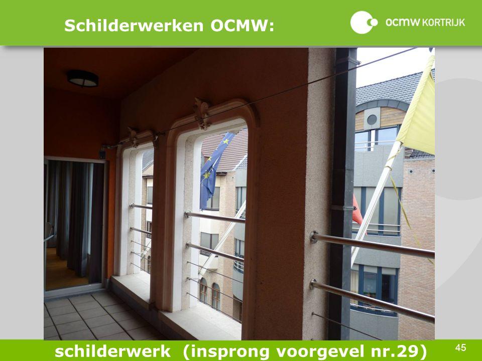 45 Schilderwerken OCMW: schilderwerk (insprong voorgevel nr.29)