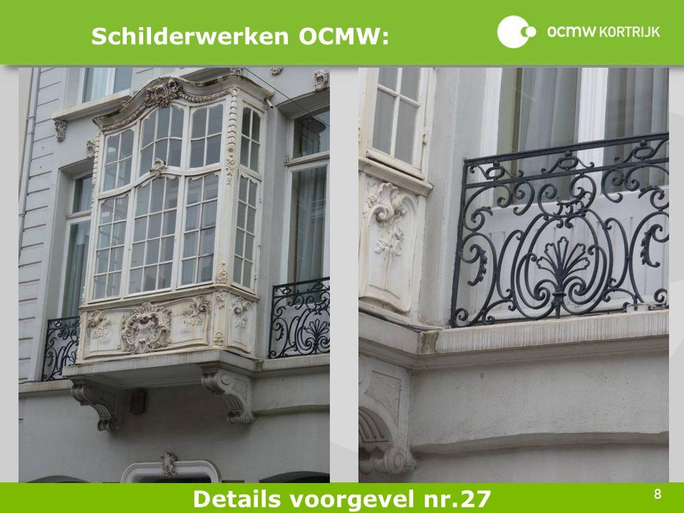 8 Schilderwerken OCMW: Details voorgevel nr.27