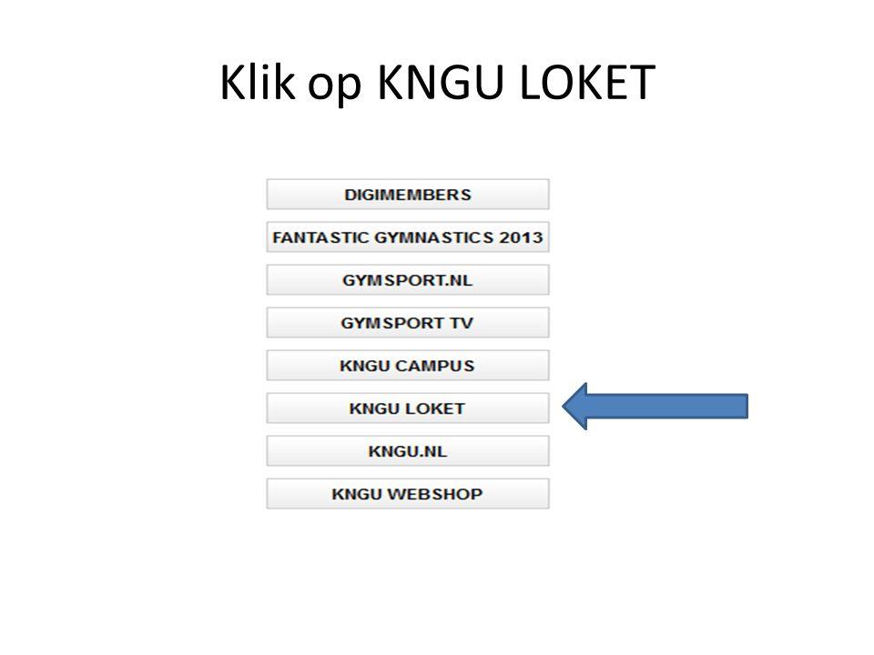 Klik op KNGU LOKET