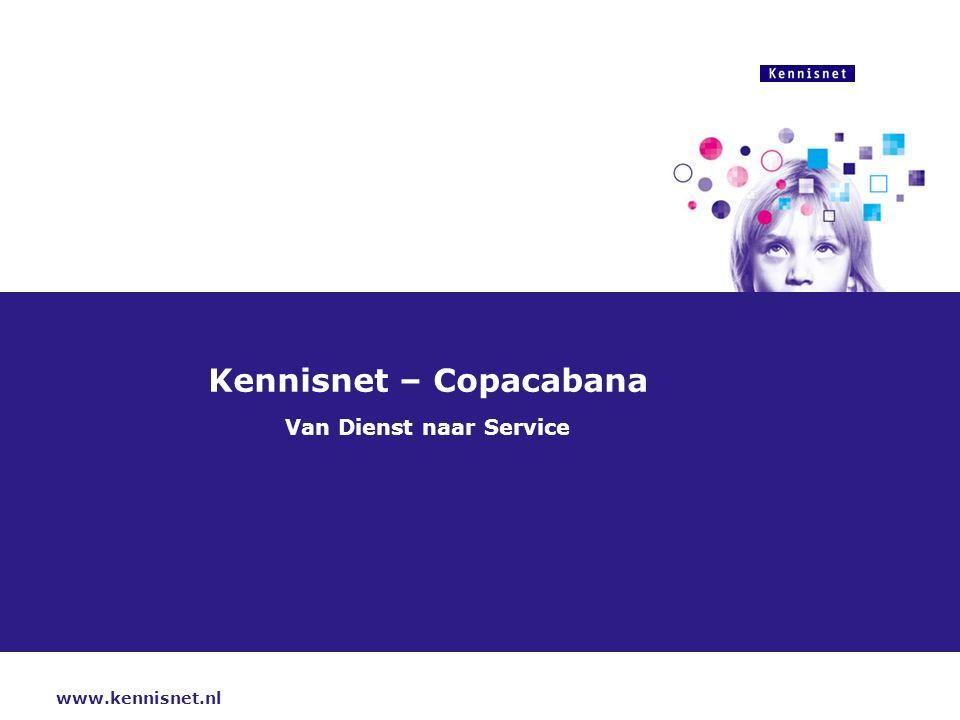 www.kennisnet.nl Kennisnet – Copacabana Van Dienst naar Service