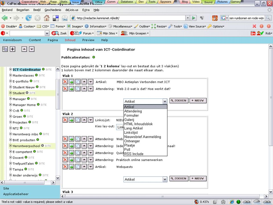 Ontwikkelingen bij Kennisnet Webservices Platform Diensten Intern Extern Licht Zwaar