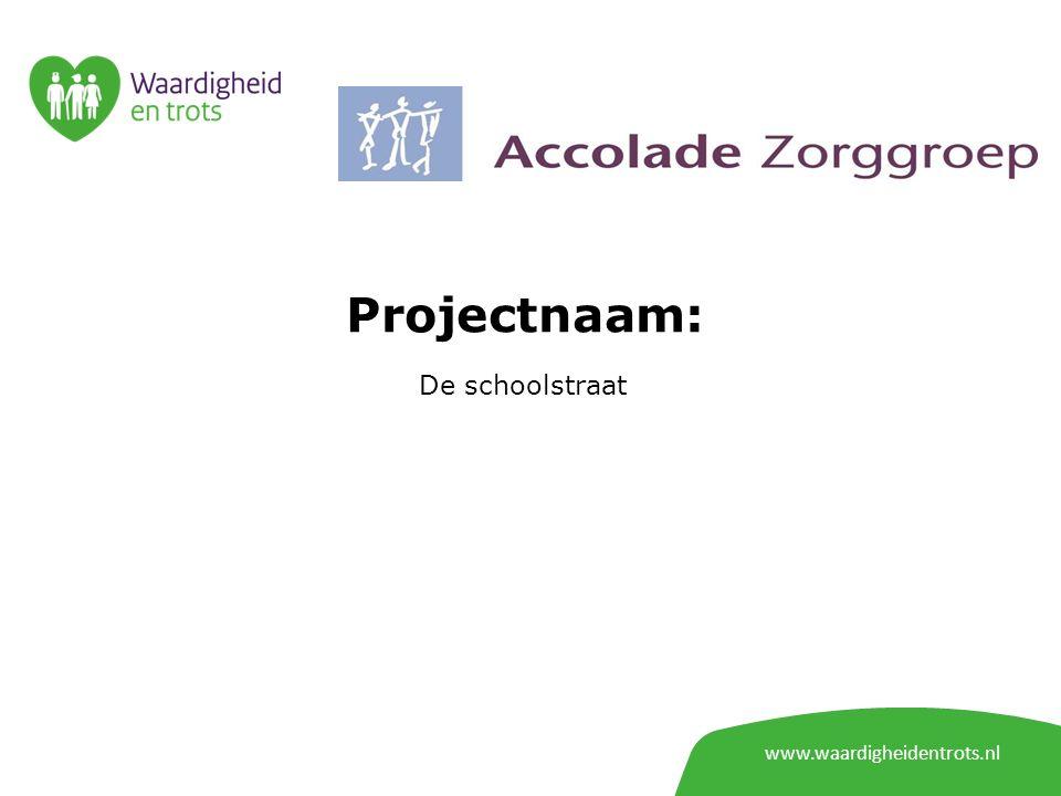 www.waardigheidentrots.nl Projectnaam: De schoolstraat