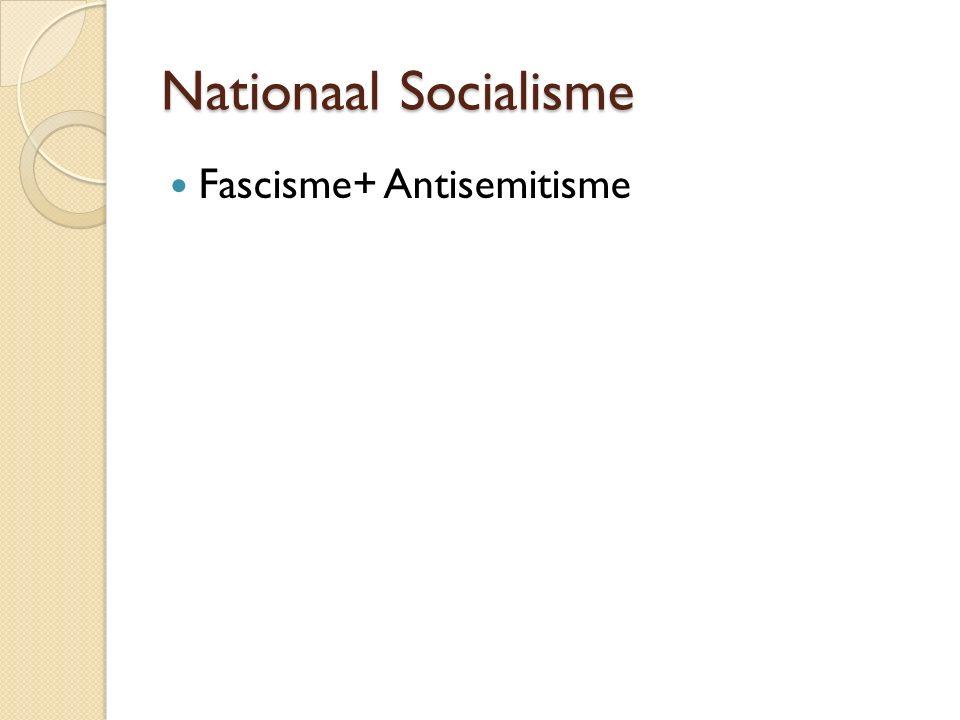 Nationaal Socialisme Fascisme+ Antisemitisme