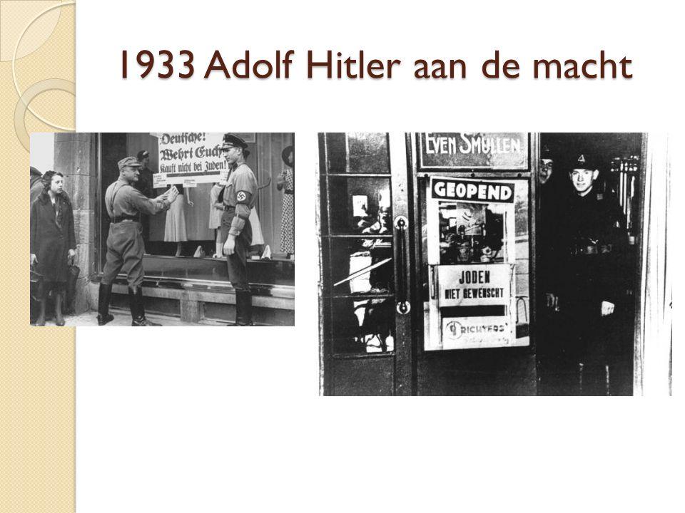 1933 Adolf Hitler aan de macht