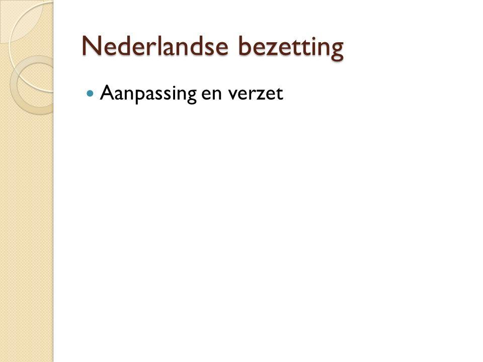 Nederlandse bezetting Aanpassing en verzet