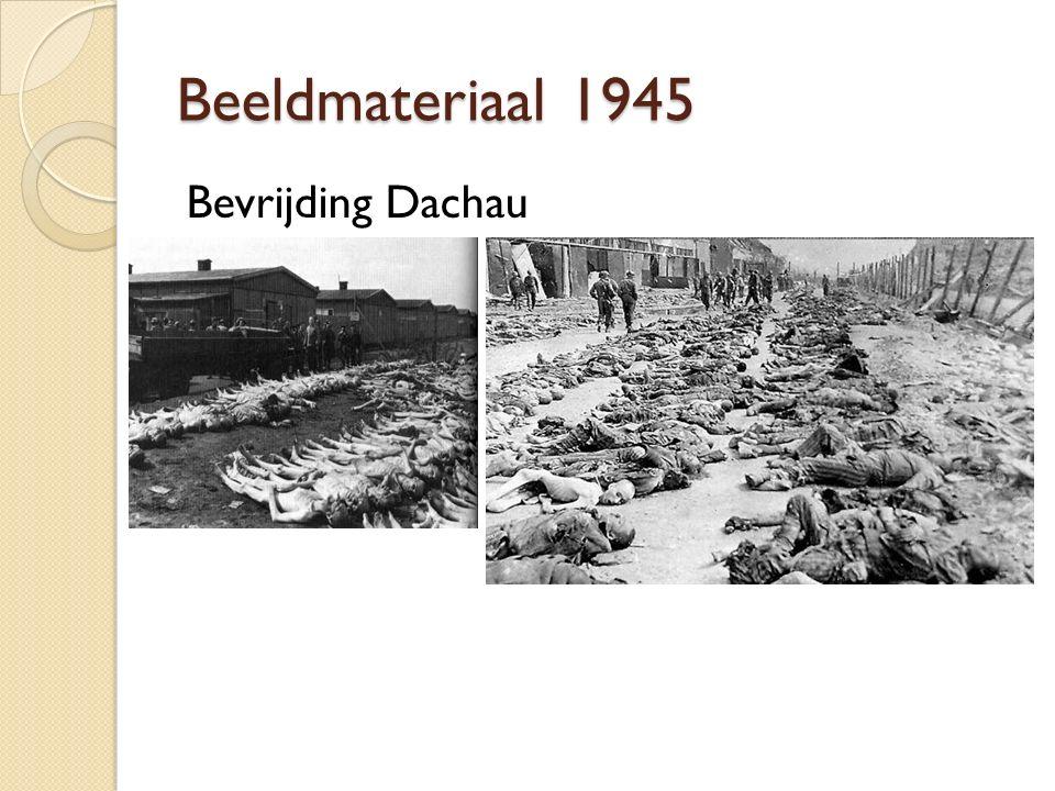 Beeldmateriaal 1945 Bevrijding Dachau