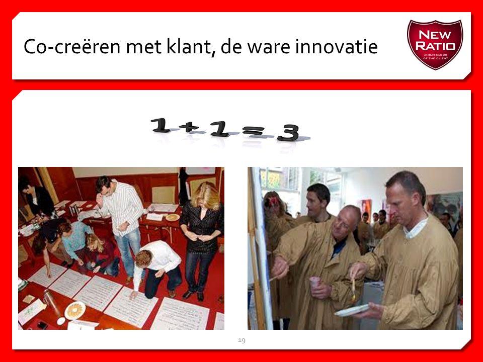 Co-creëren met klant, de ware innovatie 19