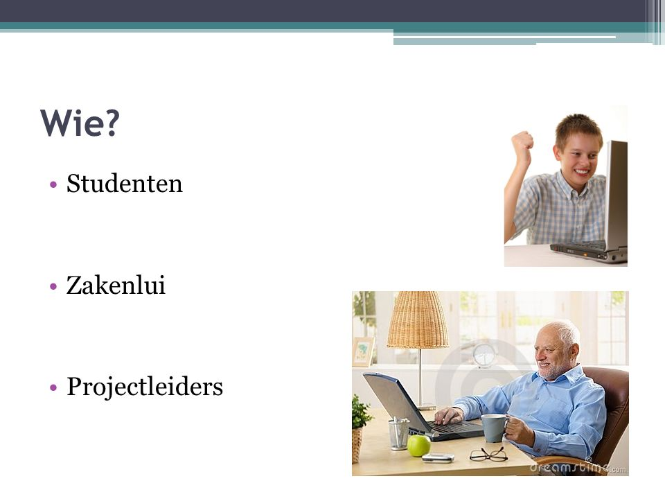 Wie Studenten Zakenlui Projectleiders