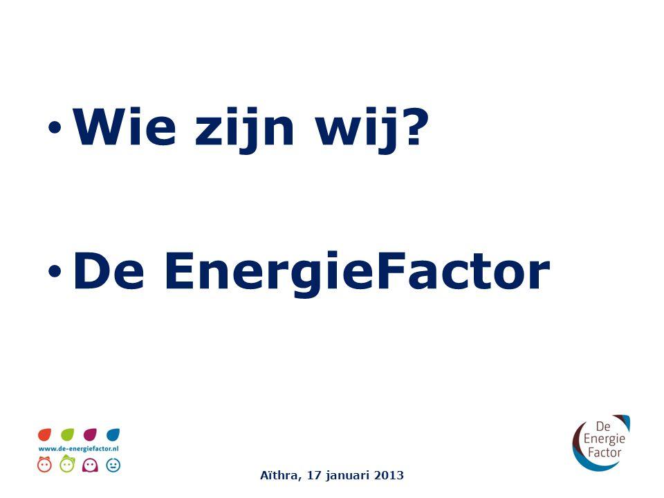 Wie zijn wij? De EnergieFactor