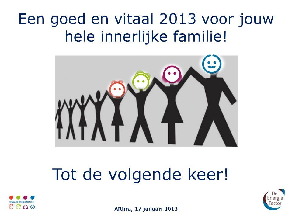 Een goed en vitaal 2013 voor jouw hele innerlijke familie.
