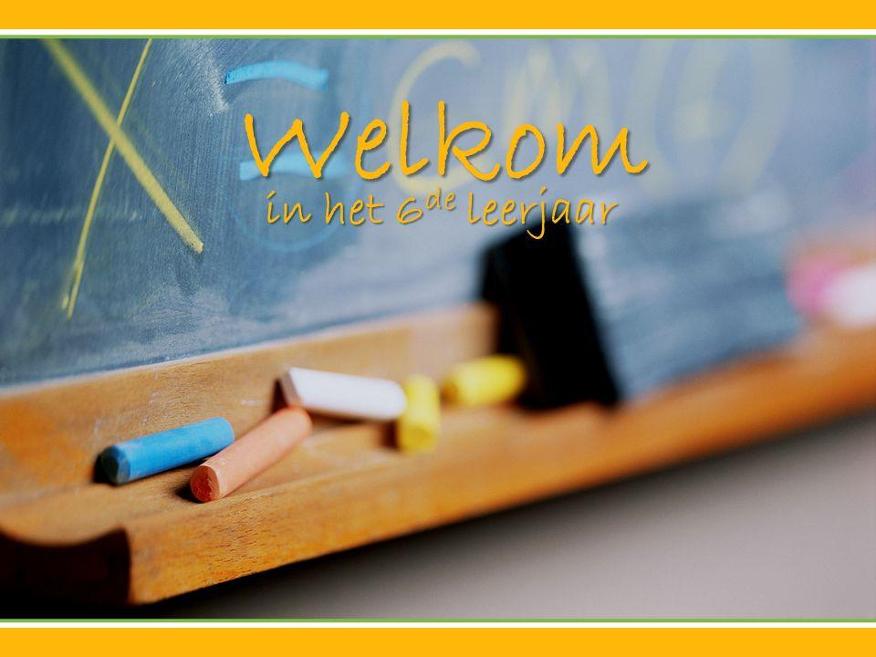 Welkom in het 6 de leerjaar