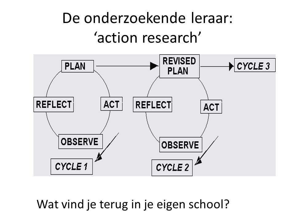 De onderzoekende leraar: 'action research' Wat vind je terug in je eigen school?