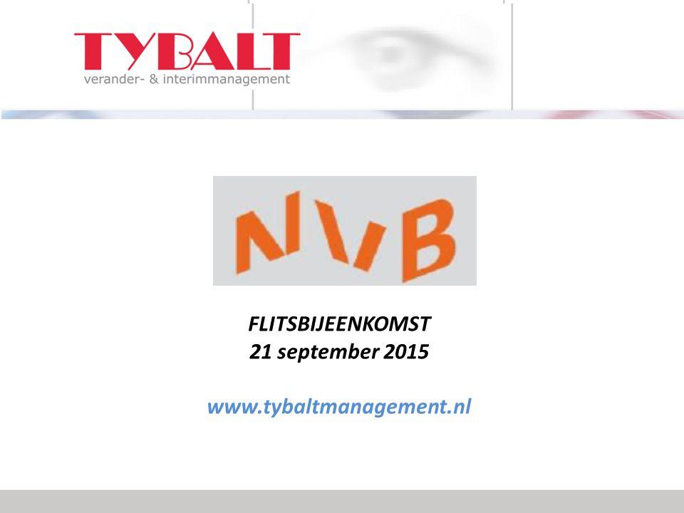Tybalt Management Crisis- en interimmanagement Vaak in situaties van liquiditeitsnood, problemen financiers, strategische heroriëntatie, reorganisatie, faillissementen, doorstarten.