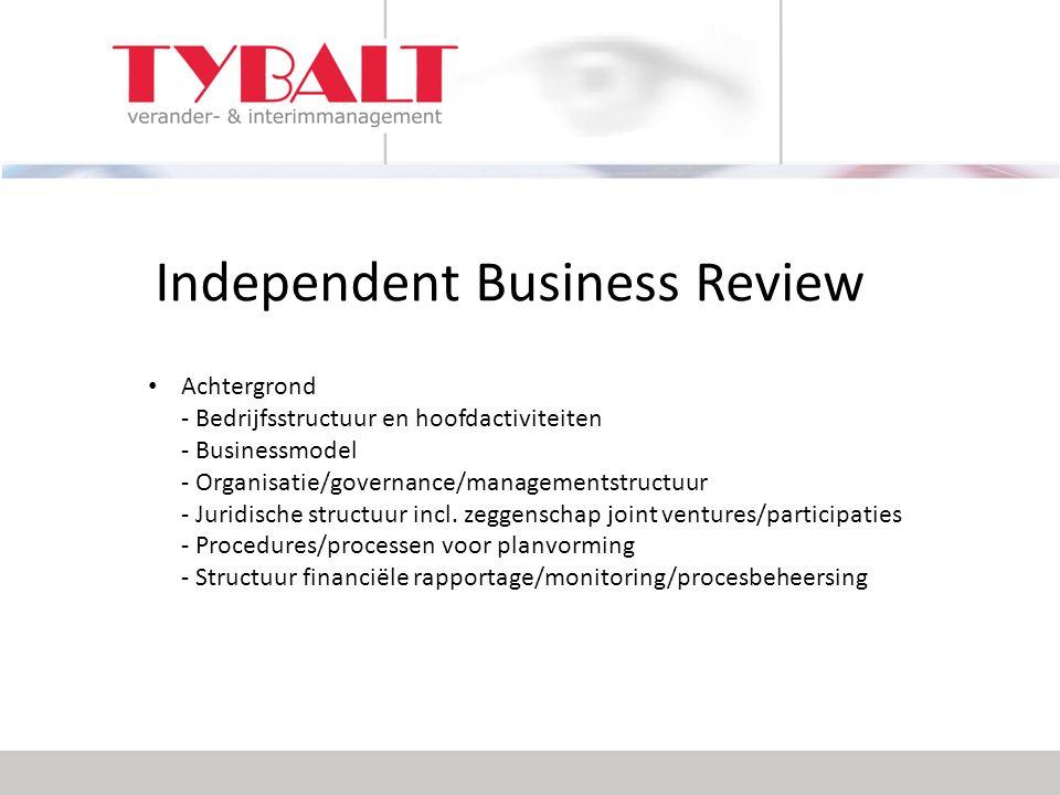Achtergrond - Bedrijfsstructuur en hoofdactiviteiten - Businessmodel - Organisatie/governance/managementstructuur - Juridische structuur incl.
