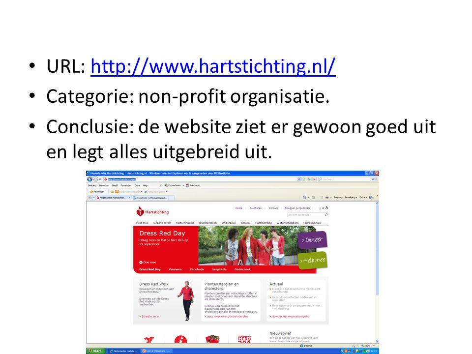 URL: http://www.hartstichting.nl/http://www.hartstichting.nl/ Categorie: non-profit organisatie.