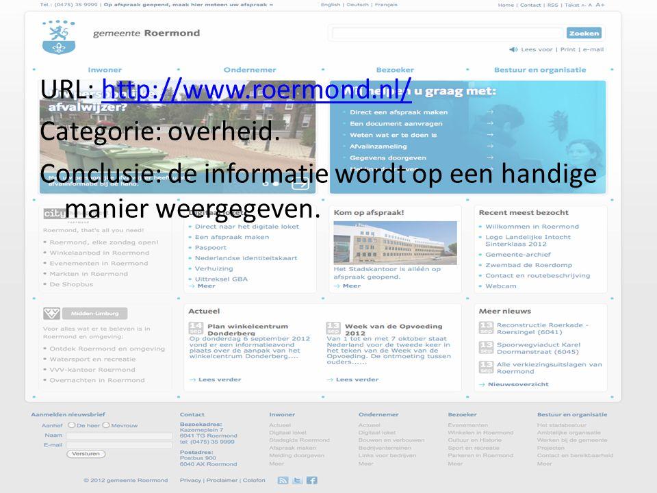 URL: http://www.roermond.nl/http://www.roermond.nl/ Categorie: overheid.