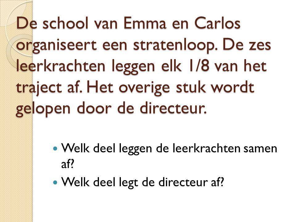 De school van Emma en Carlos organiseert een stratenloop.