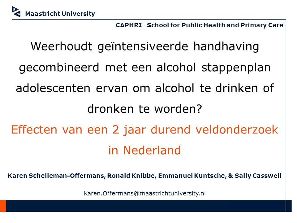 Faculty name Weerhoudt geïntensiveerde handhaving gecombineerd met een alcohol stappenplan adolescenten ervan om alcohol te drinken of dronken te worden.