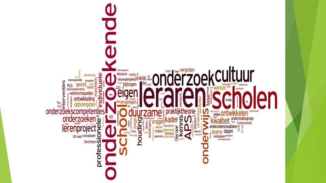 Kenmerken AO  Leraar = participerend lid in het onderzoek en voert het onderzoek samen in dialoog met de betrokkenen uit.