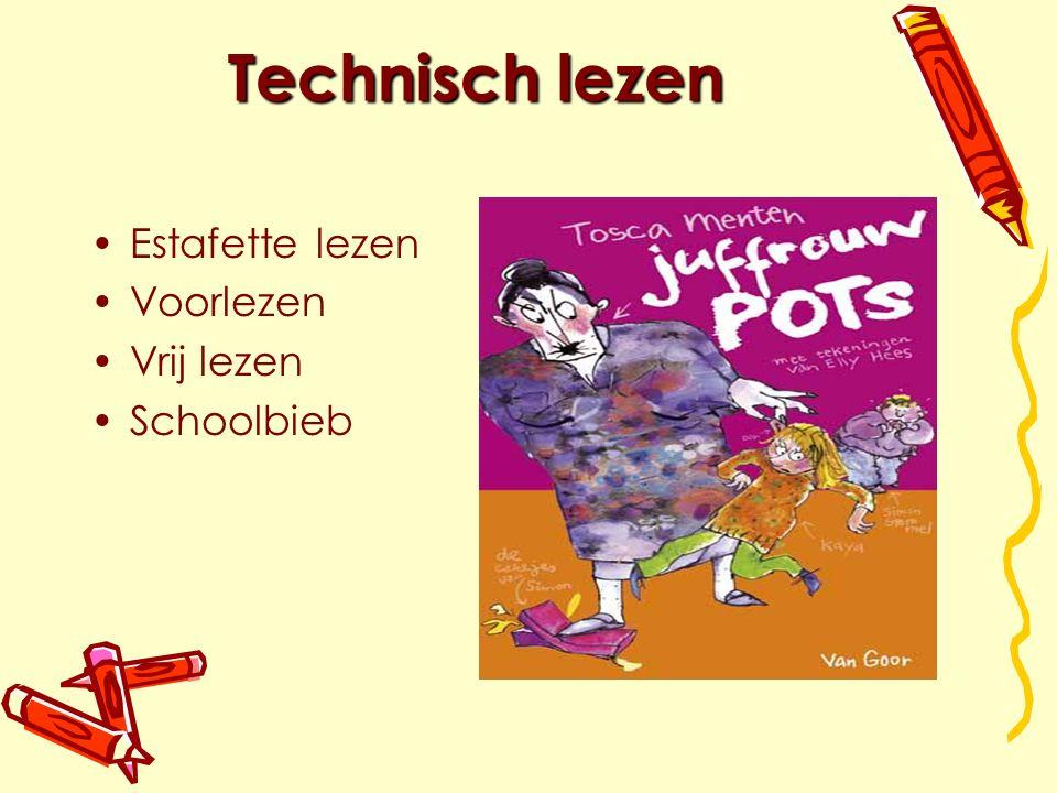 Technisch lezen Estafette lezen Voorlezen Vrij lezen Schoolbieb