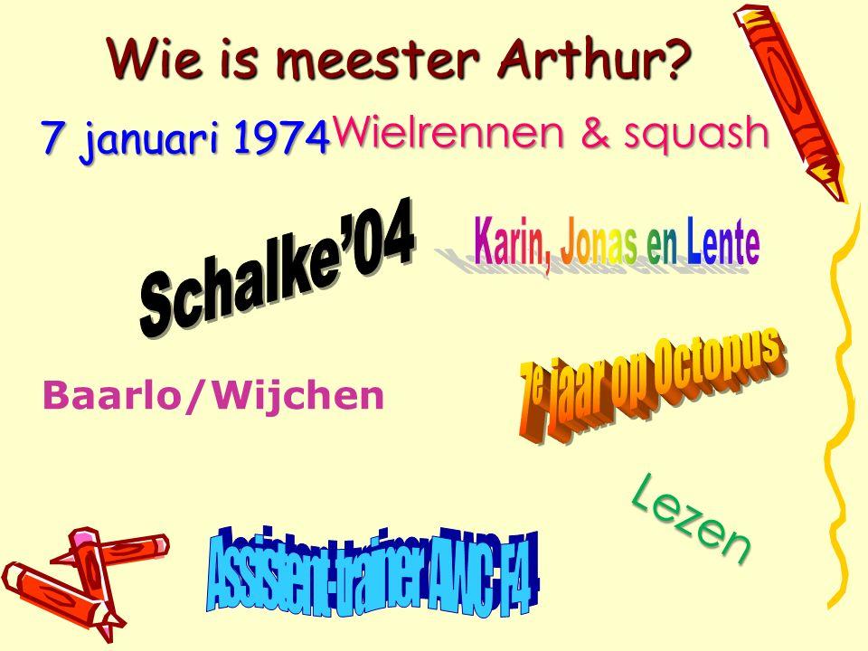 Wie is meester Arthur? Baarlo/Wijchen Lezen 7 januari 1974 Wielrennen & squash Wielrennen & squash
