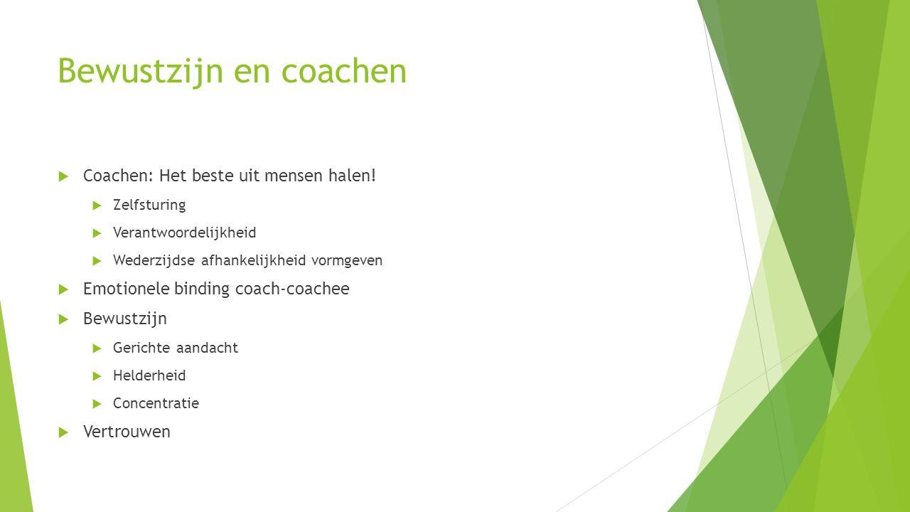 Bewustzijn en coachen  Coachen: Het beste uit mensen halen.