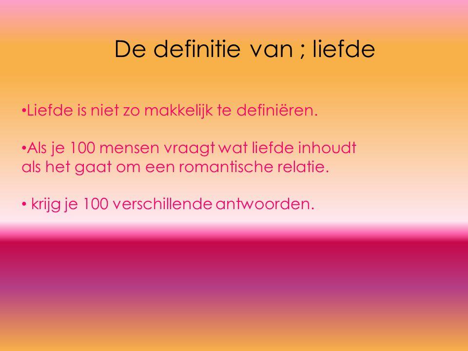 Liefde is niet zo makkelijk te definiëren.
