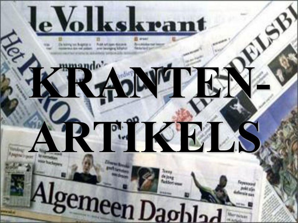 KRANTEN- ARTIKELS