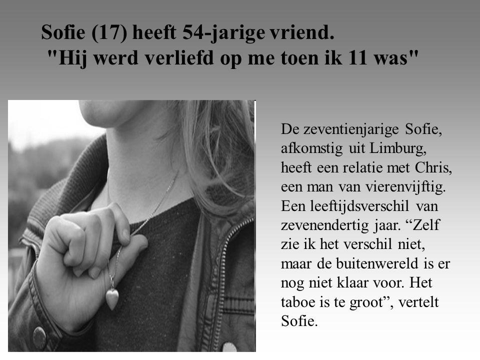Sofie (17) heeft 54-jarige vriend.