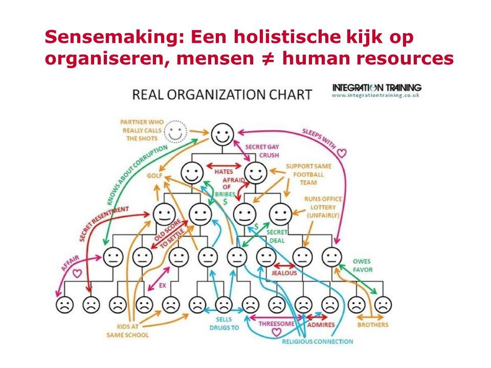Sensemaking: Een holistische kijk op organiseren, mensen ≠ human resources