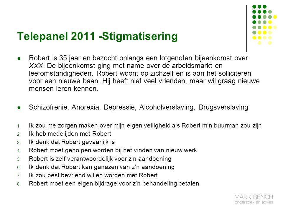 Telepanel 2011 -Stigmatisering Robert is 35 jaar en bezocht onlangs een lotgenoten bijeenkomst over XXX.