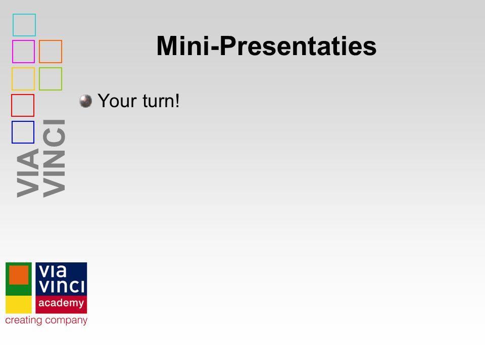 VIAVINCI Mini-Presentaties Your turn!