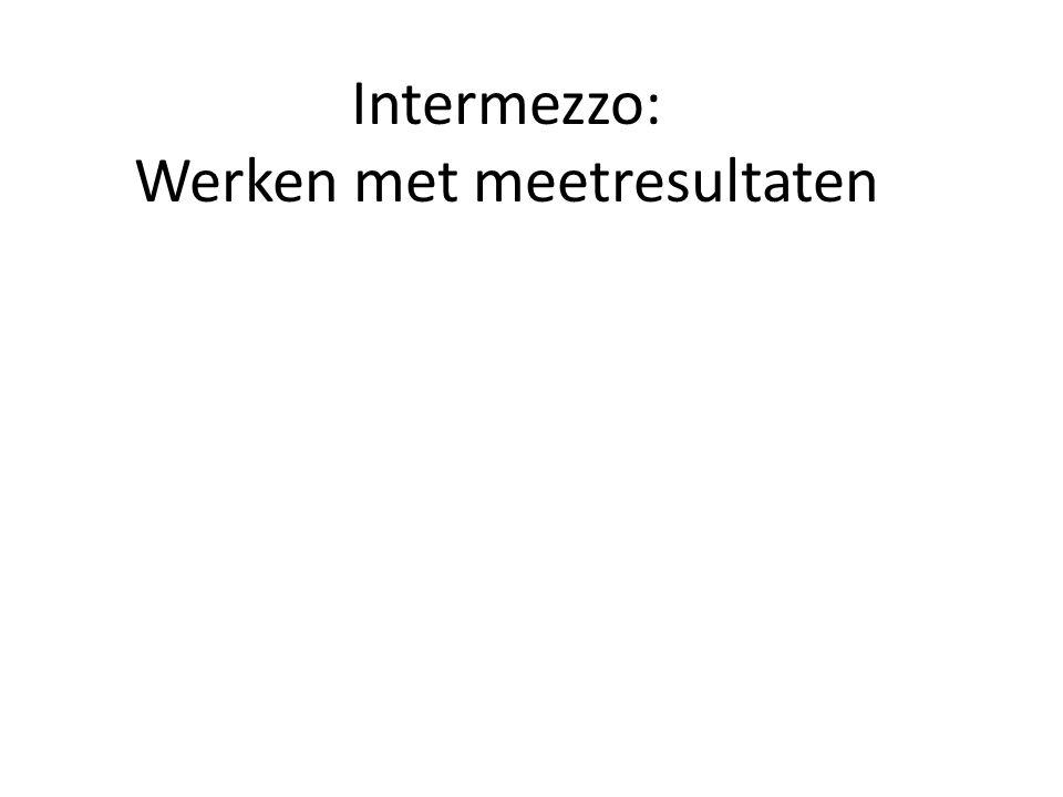 Intermezzo: Werken met meetresultaten