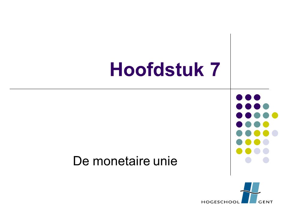 Economische en monetaire unie: theorie 1.