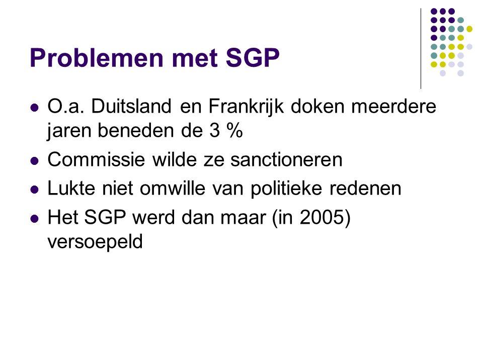 Problemen met SGP O.a.
