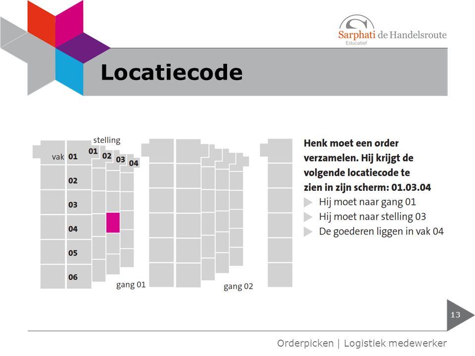 Locatiecode 13 Orderpicken | Logistiek medewerker