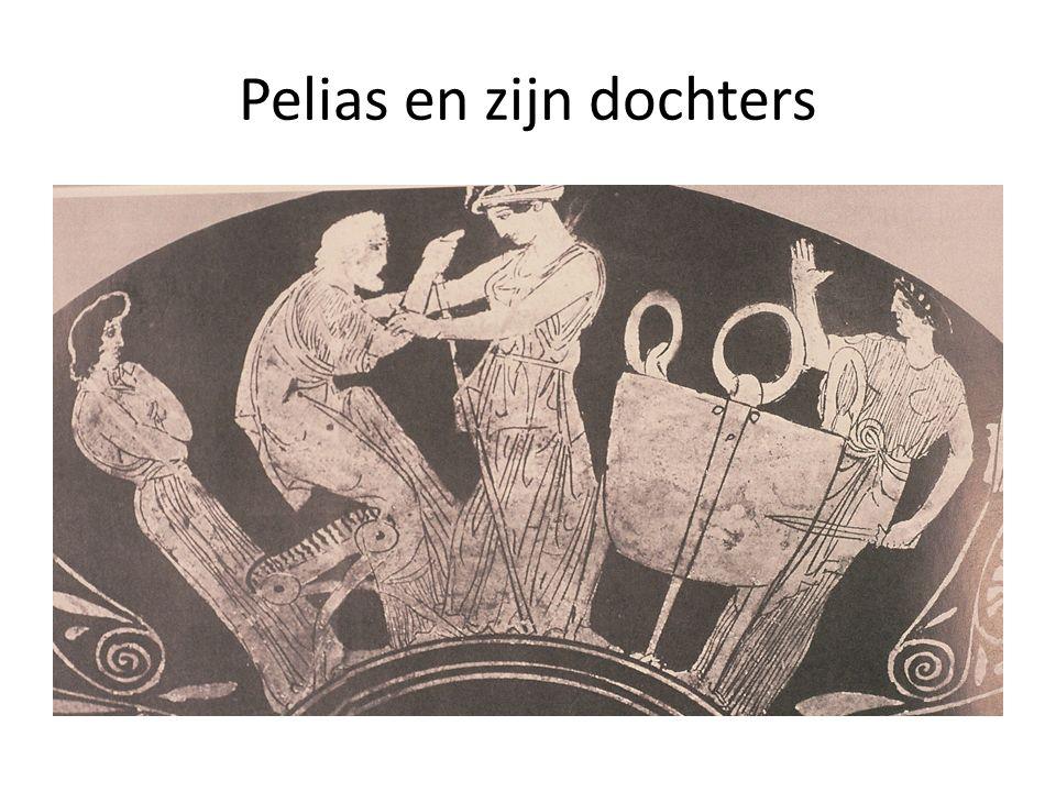 Medea's verdiensten, 475-87 Πελίαν τ᾽ ἀπέκτειν᾽, ὥσπερ ἄλγιστον θανεῖν, παίδων ὕπ᾽ αὐτοῦ, πάντα τ᾽ ἐξεῖλον δό µ ον.