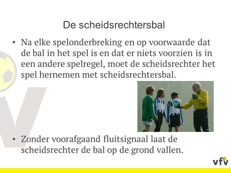 De doelschop De bal wordt vanop een willekeurige plaats in het doelgebied in het spel gebracht.