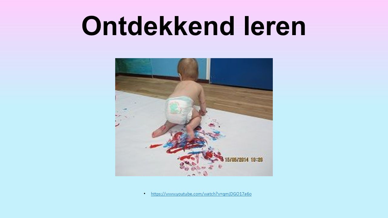 Ontdekkend leren https://www.youtube.com/watch?v=qmjDGO17a6o