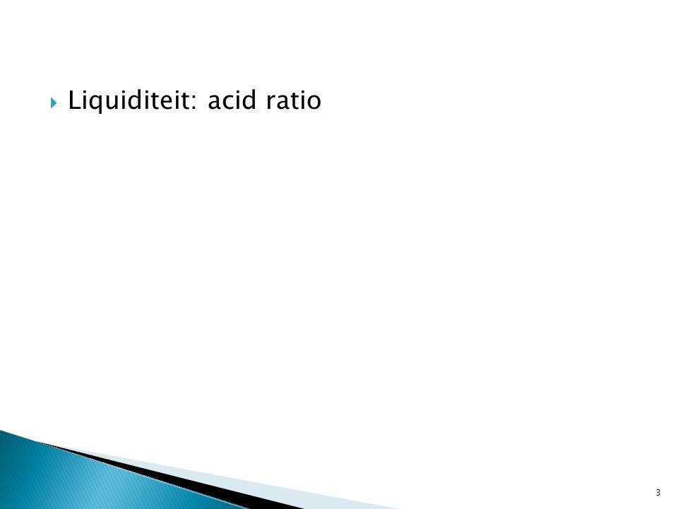  Liquiditeit: acid ratio 3