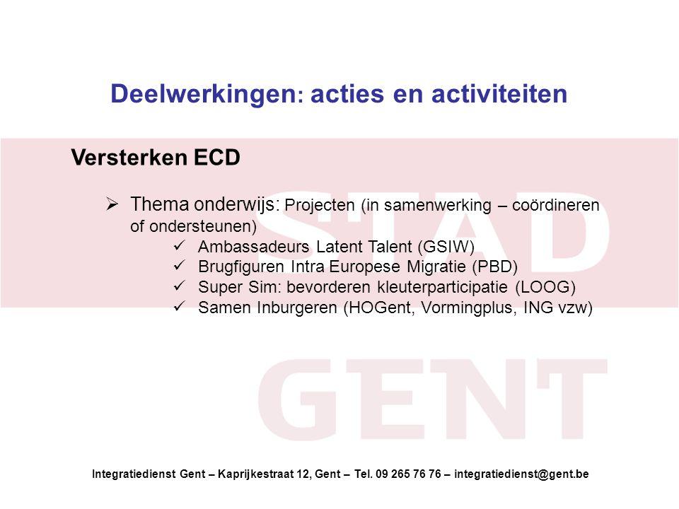 Integratiedienst Gent – Kaprijkestraat 12, Gent – Tel.