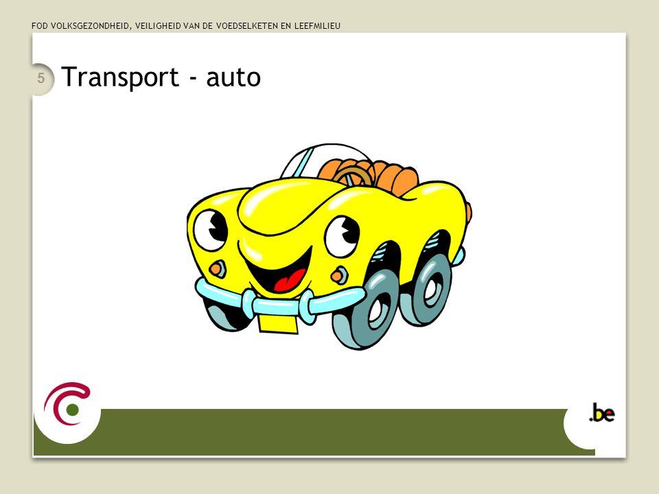 FOD VOLKSGEZONDHEID, VEILIGHEID VAN DE VOEDSELKETEN EN LEEFMILIEU Transport - auto 5